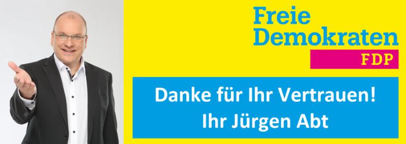 Dank Jürgen Abts an Wählerinnen und Wähler, Unterstützerinnen und Unterstützer